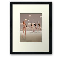 CHECKING OUT THE COMPETITION Framed Print