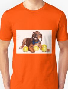 Funny red Ridgeback puppy Unisex T-Shirt