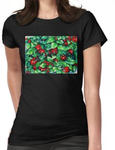 Ladybugs in the Hedge Womens Fitted T-Shirt