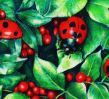 Ladybugs in the Hedge Sticker