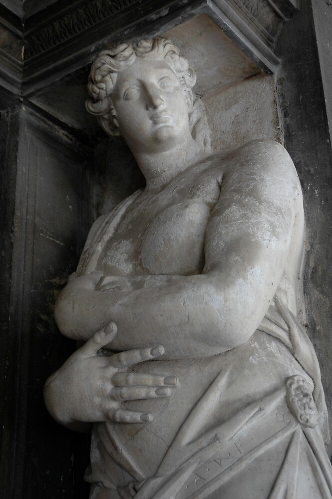 Enormous Stone Woman, Forever Bearing The Weight Of An Ancient Building On Her Weary Head, San Marco Square, Venice 2009 by Ainsley Kellar Creations