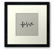 Music Pulse, Notes, Clef, Frequency, Wave, Sound, Dance Framed Print