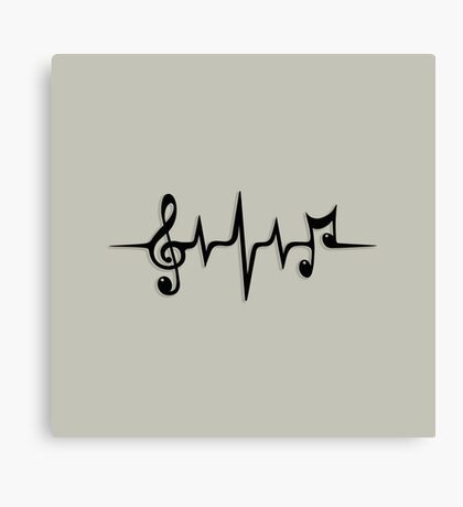 Music Pulse, Notes, Clef, Frequency, Wave, Sound, Dance Canvas Print