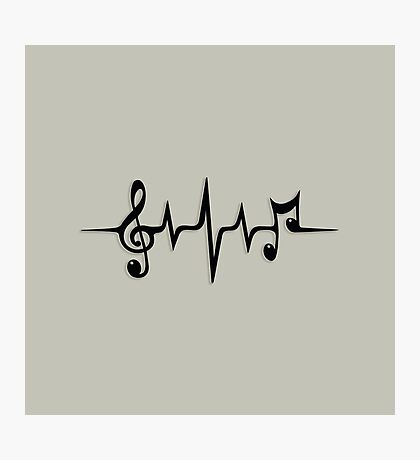 Music Pulse, Notes, Clef, Frequency, Wave, Sound, Dance Photographic Print