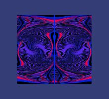WA5 blue & red fractal trace design Womens Fitted T-Shirt