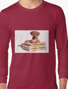 Funny red Ridgeback puppy Long Sleeve T-Shirt