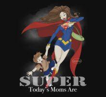 Super Mom - Brunette (darker tees) by Elisabeth Bell
