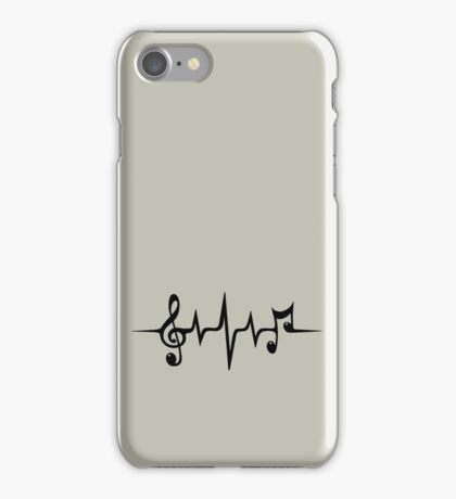 Music Pulse, Notes, Clef, Frequency, Wave, Sound, Dance iPhone Case/Skin