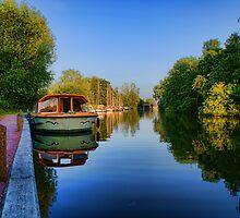 River Bure at Wroxham, Norfolk, UK by Mark Snelling