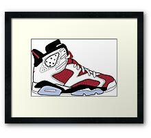 """Air Jordan VI (6) """"Carmine"""" Framed Print"""