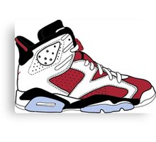 "Air Jordan VII (6) ""Carmine"" Canvas Print"