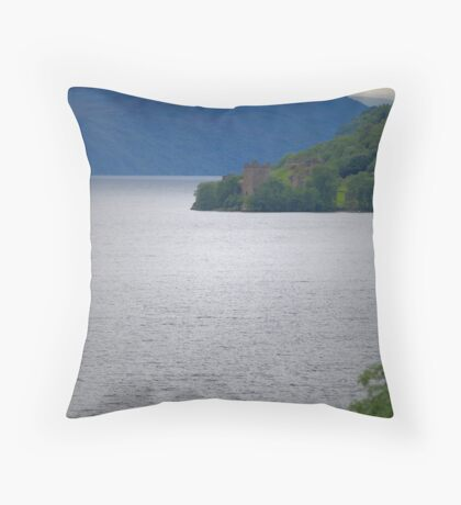 Loch Ness and Urquhart Castle Throw Pillow