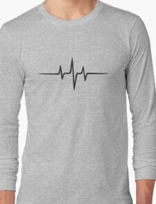 Music Pulse, Frequency, Wave, Sound, Abstract, Techno, Rave Long Sleeve T-Shirt