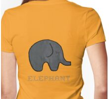 (r)ELEPHANT & cute Baby Elephant Womens Fitted T-Shirt