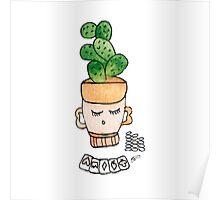 Patrick The Poker Playing Cactus | Emma Watts Poster