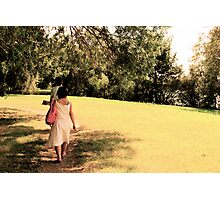 Rika walks Photographic Print