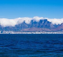 Cape Town and Table Mountain From Robben Island by Ric Raftis