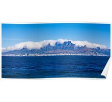 Cape Town and Table Mountain From Robben Island Poster