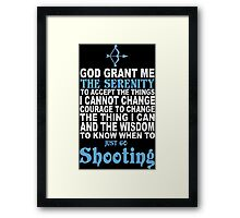 Funny Shooting Tshirts & Hoodies Framed Print