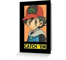 ash portrait (catch 'em) Greeting Card