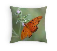 Gulf Fritillary, Agraulis vanillae Throw Pillow