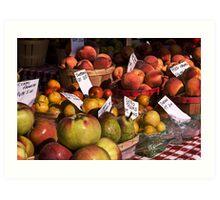 Market produce Art Print
