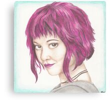 Pink Haired Ramona Canvas Print