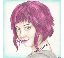 Pink Haired Ramona Photographic Print
