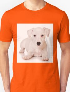 white Jack Russell Terrier puppy Unisex T-Shirt