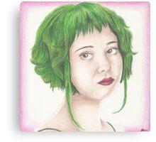 Green Haired Ramona Canvas Print