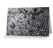 More Pipe Ends ~ pillow collection Greeting Card
