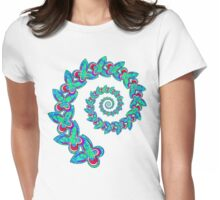 Butterfly Spiral Womens Fitted T-Shirt
