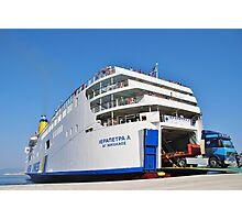 Ierapetra L ferry, Halki island Photographic Print