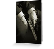 Guns' hands Greeting Card