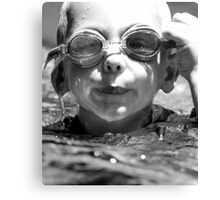 so hard to see when your goggles are full of water Canvas Print