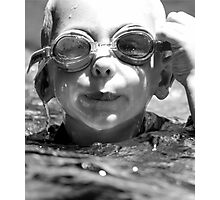 so hard to see when your goggles are full of water Photographic Print