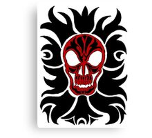 Black and Red SKull Canvas Print