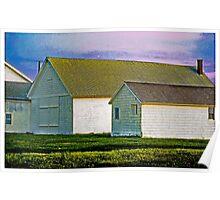 Hamptons Barns, Plain and Simple Poster