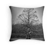 lone cyrpress Throw Pillow