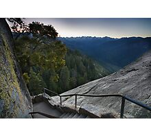 Moro Rock Steep Stairway Photographic Print