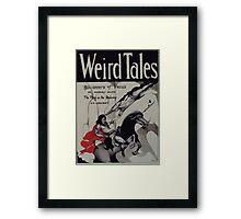 Weird Tales ( The Buccaneers Of Venus ) Framed Print