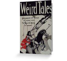 Weird Tales ( The Buccaneers Of Venus ) Greeting Card