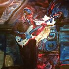 Blues Guitarist by Sandra Gray