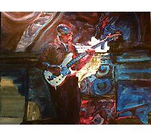Blues Guitarist Photographic Print