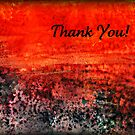 Sunset Cove Thank You Card by Lynn Moore