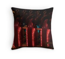 Red Repetition Throw Pillow
