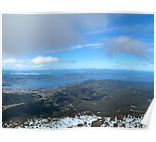 Hobart from Mt Wellington. Poster
