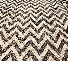 Hoklakia mosaic courtyard, Halki by David Fowler