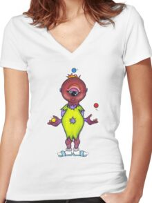 We Monster- 6 Women's Fitted V-Neck T-Shirt