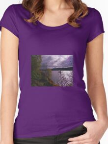 Here Comes Nessie Women's Fitted Scoop T-Shirt